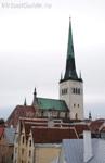 Шпиль церкви Олевисте виден со всех концов города